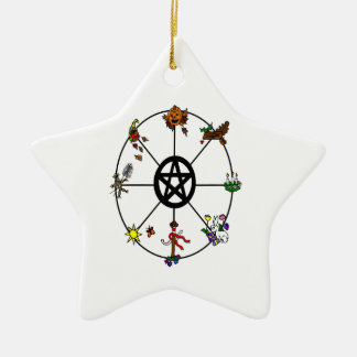 Pagan Wheel of The Year Ornament
