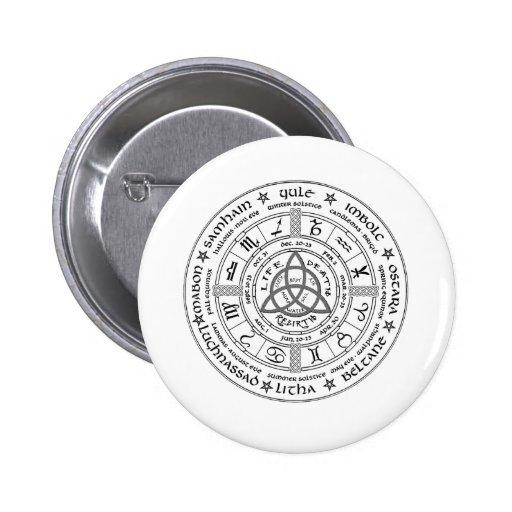 Pagan wheel of the Year Pin