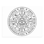Pagan wheel of the Year Post Cards