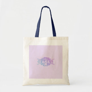 Pagan Wiccan Triple Moon Goddess Budget Tote Bag
