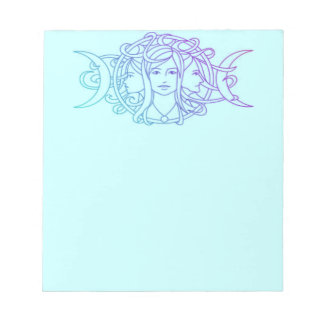 Pagan Wiccan Triple Moon Goddess Notepad