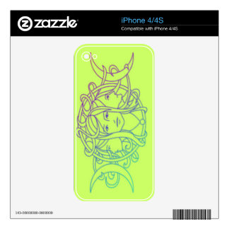 Pagan Wiccan Triple Moon Goddess Decal For iPhone 4