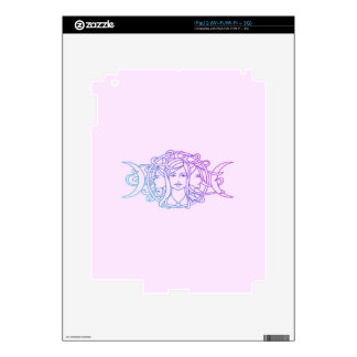 Pagan Wiccan Triple Moon Goddess Decal For iPad 2
