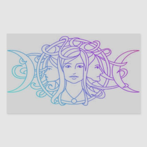 Pagan Wiccan Triple Moon Goddess Stickers