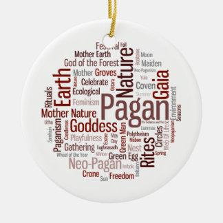 Pagan Words Ceramic Ornament