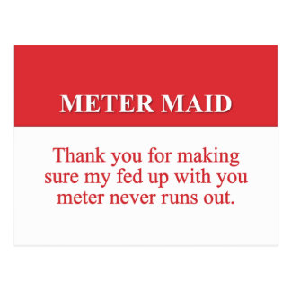 Pagando a la criada del metro 2 postal