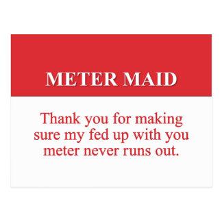 Pagando a la criada del metro (2) tarjeta postal