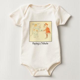 Pagando a un tributo la enredadera infantil mameluco de bebé