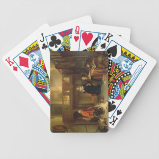 Pagando el diezmo (aceite en el panel) cartas de juego