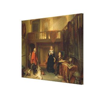 Pagando el diezmo (aceite en el panel) impresión de lienzo