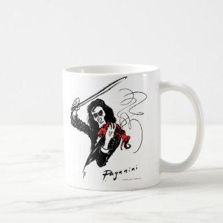 Paganini playing a red violin mug