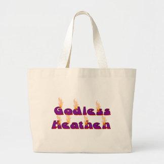 Pagano ateo bolsa tela grande