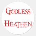 Pagano ateo etiquetas redondas