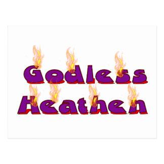 Pagano ateo tarjetas postales