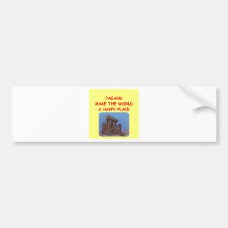 pagans bumper sticker