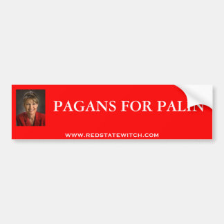 PAGANS FOR PALIN BUMPER STICKER