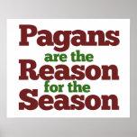 Pagans holiday season humor poster