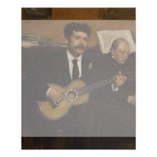 """Pagans y Auguste de Gas de Lorenzo de Edgar Degas Folleto 4.5"""" X 5.6"""""""