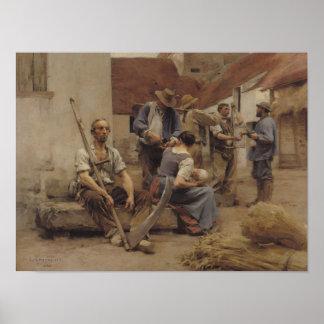 Pagar las máquinas segadores 1882 posters