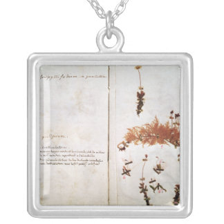 Page 15 from a Herbarium Silver Plated Necklace