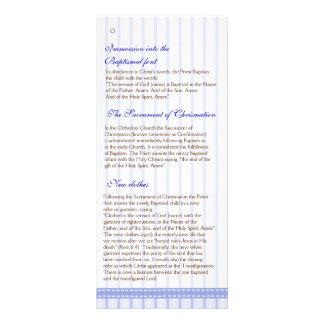 Page 4/5  Greek Orthodox Church Baptism Program Custom Rack Card