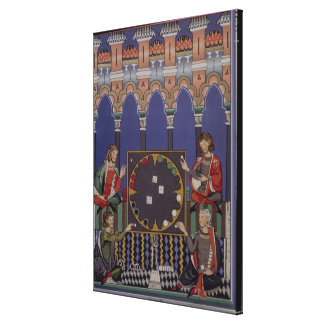 Page 90 from the Book of Games made for Alfonso X Canvas Print
