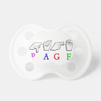 PAGE ASL NAME SIGN FINGERSPELLED PACIFIER