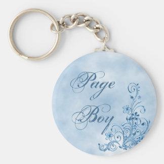 Page Boy Keychain: Sky Blue Elegance Keychain