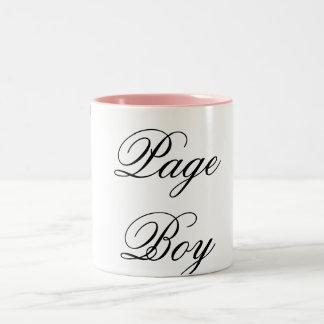 Page Boy pink black Two-Tone Coffee Mug