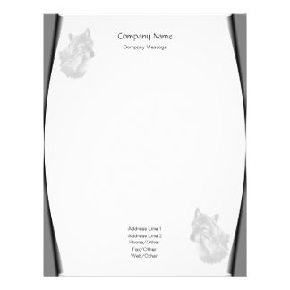Page Curls Wolves Stationery Letterhead
