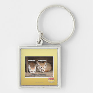 Page display options Silver-Colored square keychain