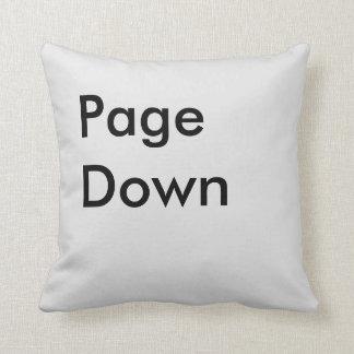 Page Down Button Throw Pillows