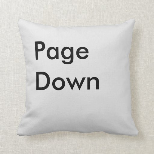 Page Down Button Throw Pillow