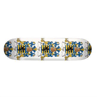 Page Family Crest Skate Deck