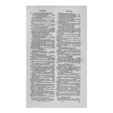bridgemanimages Page from a Dictionary Poster