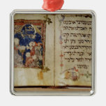 Page from a Haggadah Christmas Tree Ornaments