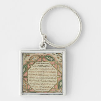Page from a Hebrew Bible depicting Keychain