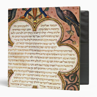 Page from a Hebrew Bible with birds, 1299 3 Ring Binder