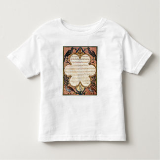 Page from a Hebrew Bible with birds, 1299 Toddler T-shirt