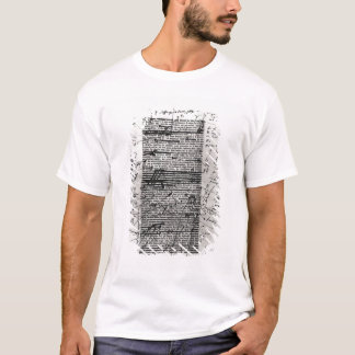 Page from one of Balzac's works T-Shirt