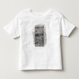 Page from one of Balzac's works Toddler T-shirt