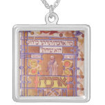 Page from the Mishneh Torah, systematic code Square Pendant Necklace