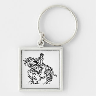 Page Leading Lady's Horse Keychain