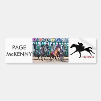 Page McKenny - PA Champion Stakes Bumper Sticker