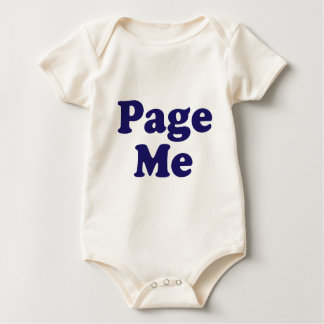 Page Me! Beep Me! Baby Bodysuit