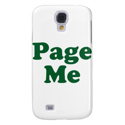 Page me! Beep Me! Samsung Galaxy S4 Cover