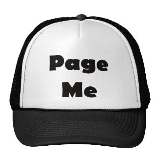 Page Me Hat
