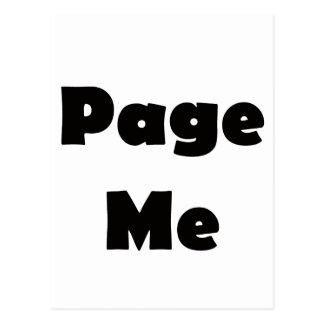 Page Me Postcard