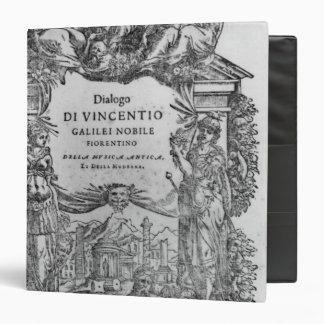 page of 'Della Musica Antica et della Moderna' Vinyl Binders