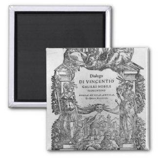 page of 'Della Musica Antica et della Moderna' Fridge Magnet